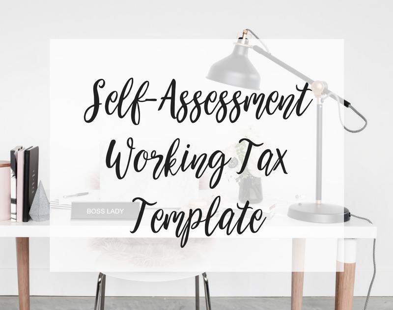 Self-Assessment Working Tax Template
