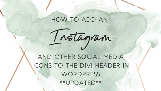 How to Add an Instagram and other Social Media Icons to the Divi Header in WordPress – UPDATED